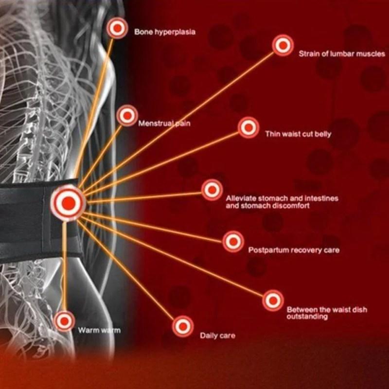 Cinta Lombar Magnética Terapia p/ Dor