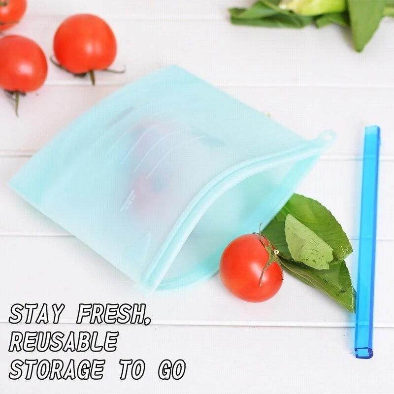 Saco Reutilizável Para Alimentos De Silicone