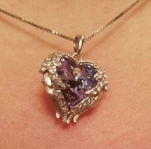 Shalonda Blandon review of Angel Wings Swarovski Crystal Necklace