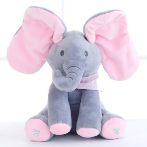 Elefante Feliz Canta e Mexe Orelhas Peek-A-Boo