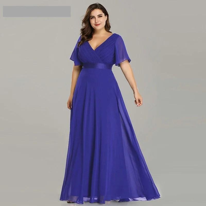 Vestido Longo Poá - Roxo - Tamanho 56