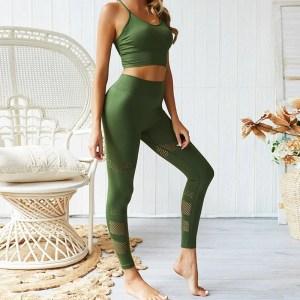 Legging e Top Fitness Esportiva - Verde - M