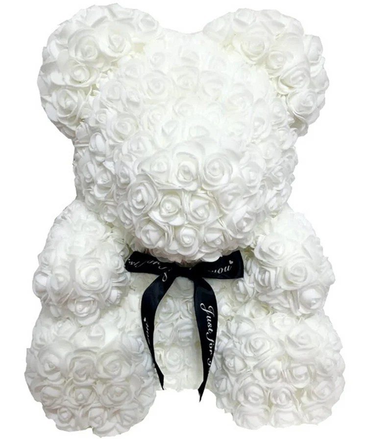 Urso De Rosas Luxuoso 37 cm