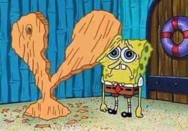 SpongeBob sad