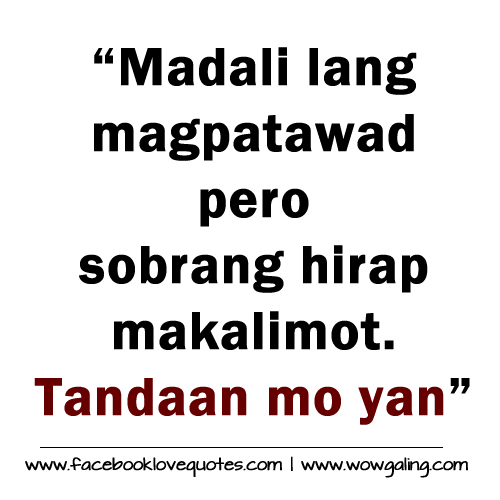 Famous Line Of Tagalog Love Story