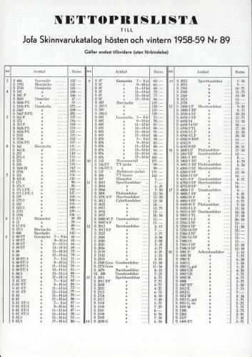 JOFA_Huvudkatalog 1958-59 nettoprislista 0346