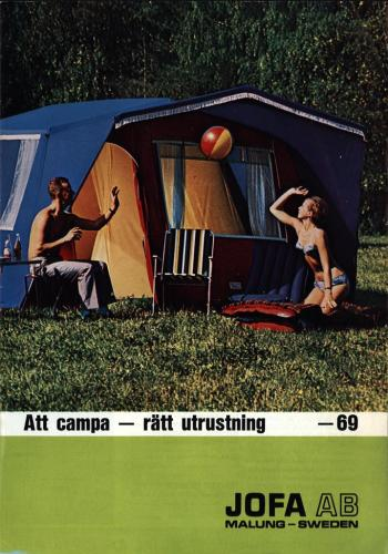 JOFA Oskar Camping Att campa. Rätt utrustning jofa 1969 0071