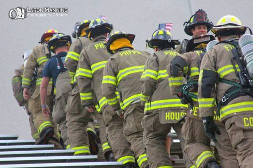 One of Laron Manning's numerous photos of the Springfield Area Memorial Stair Climb.