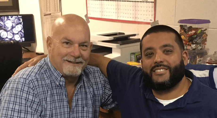 Bruce Nesmith and Ozzie Gonzalez, MalvenWorks' long-time Fenico contacts for fire tool projects.