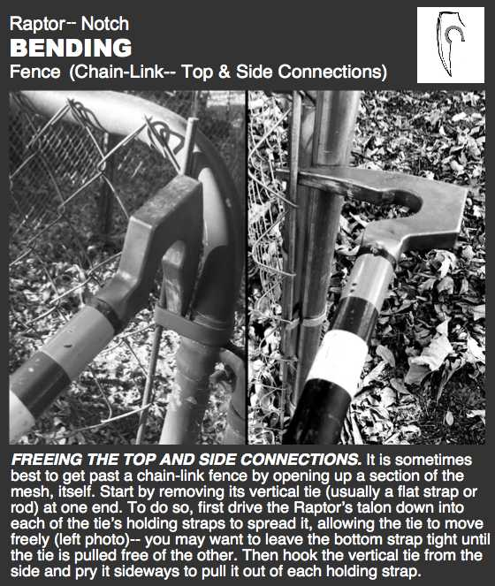 Raptor-- Fence, Bend Side Ties