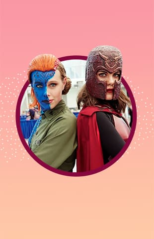 Cosplayers de Comic Con 2018