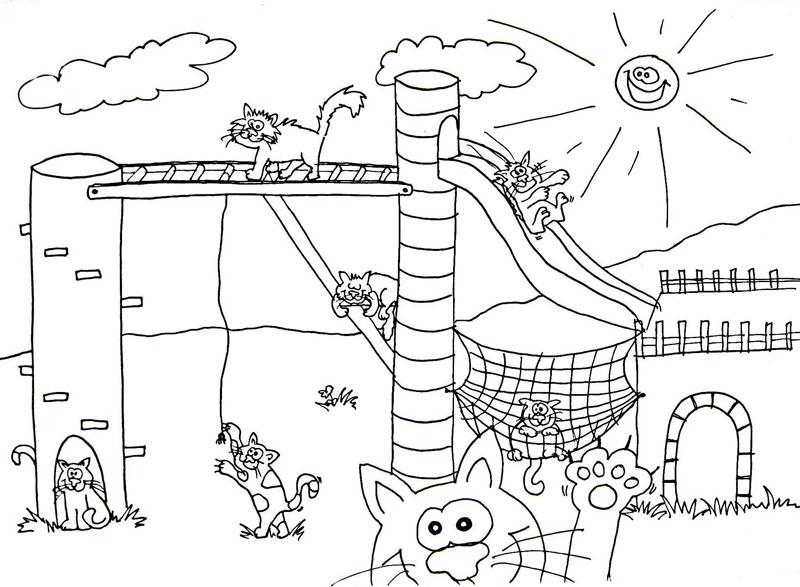 Groes Ausmalbild Spielplatz Wuschels Malvorlagen