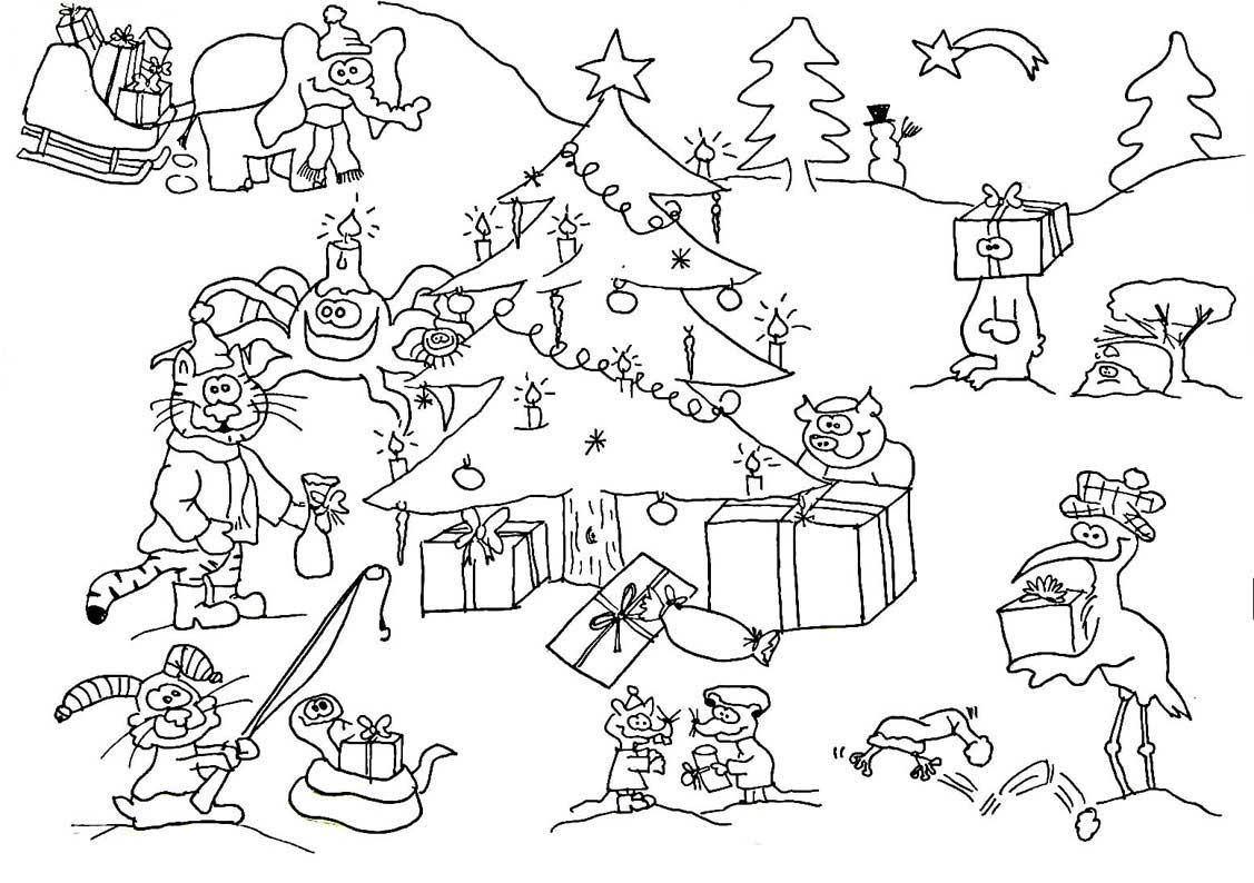 großes weihnachts-ausmalbild | wuschels malvorlagen