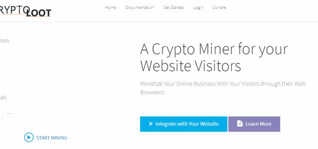 Crypto-Loot – a new cryptojacking service