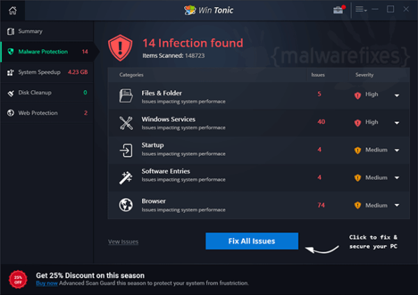 Remove Win Tonic (Uninstall Guide) | MalwareFixes
