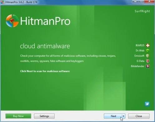 HitmanPro scanner