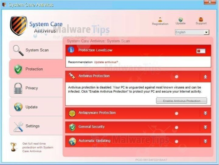 [Image: System Care Antivirus virus]