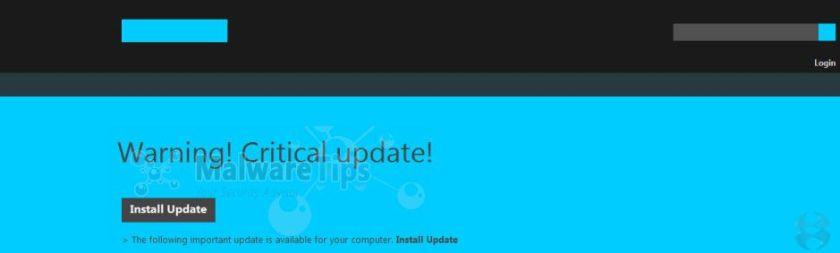 [Image: Warning! Critical update! virus]