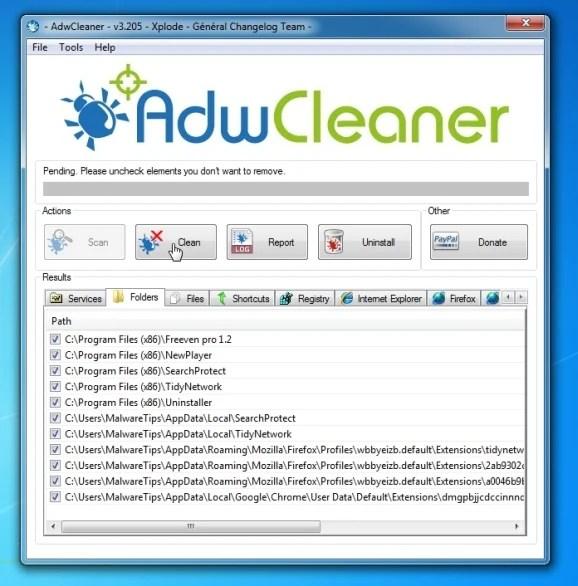 Remove Fun2Save virus with AdwCleaner