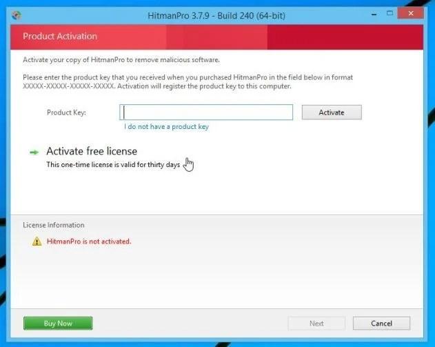 Remove malware with HitmanPro