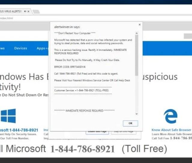 Microsoft Has Detected A Porn Virus