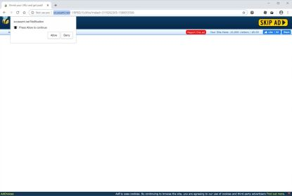 Image: Chrome browser is redirected to Scuseami.net