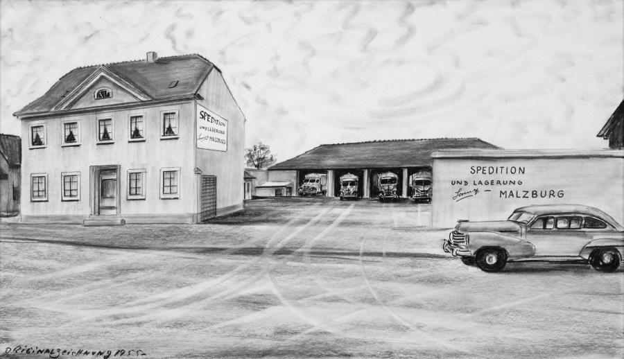 Firmengelände 1955