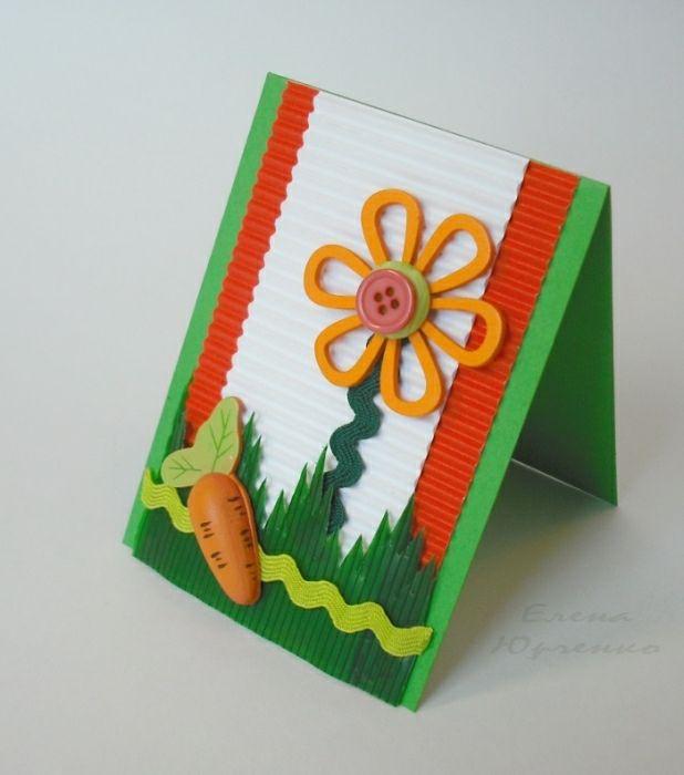 Открытки из гофрированной бумаги и картона