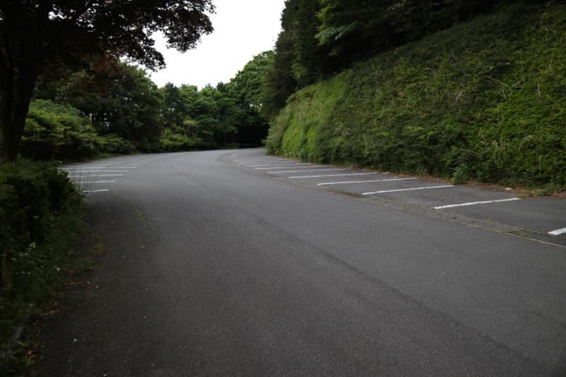 熱海市の姫の沢公園林間駐車場