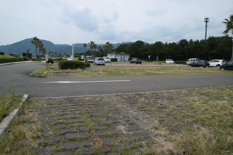 107台駐車可能な広野海岸公園第一駐車場