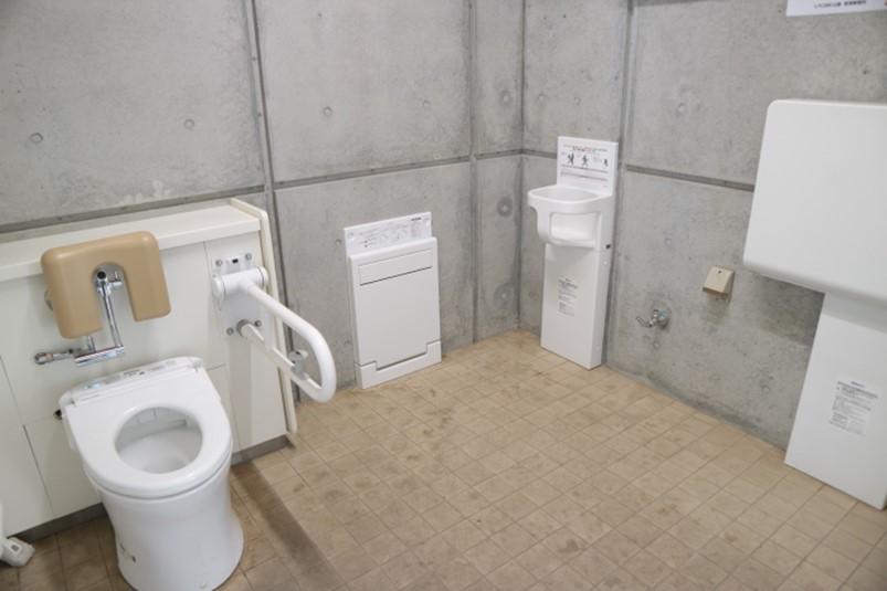 コバトンの森ゾーン、ふたつのトイレ