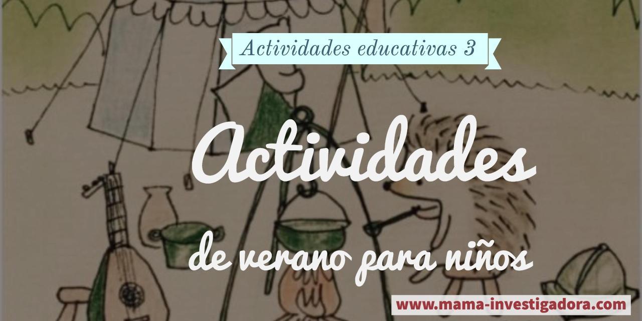 Juegos educativos - Actividades de verano para niños - Mamá ...