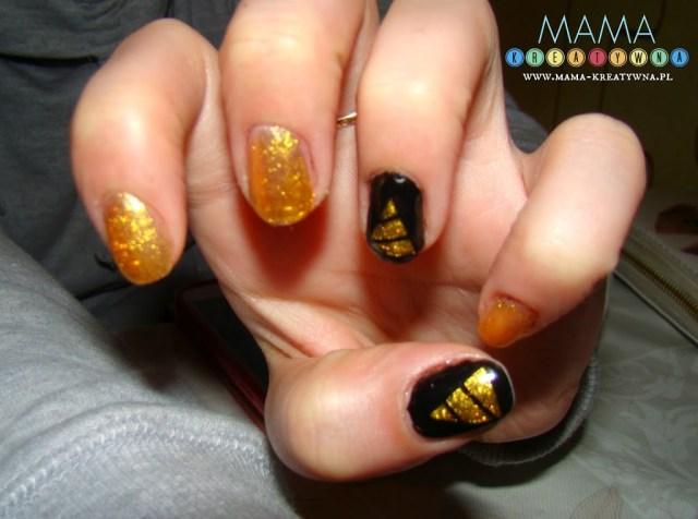 paznokcie z choinkami