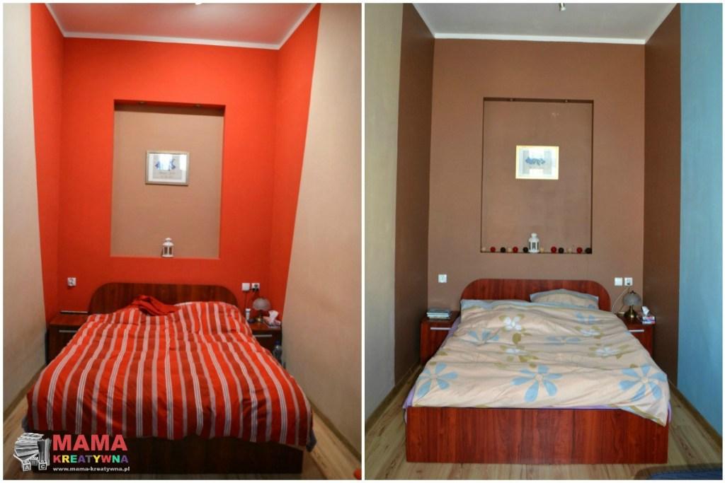 sypialnia w czerwieni