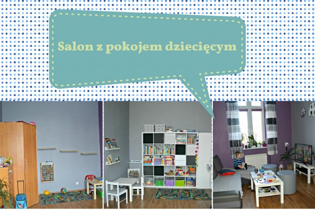 salon z pokojem dziecka