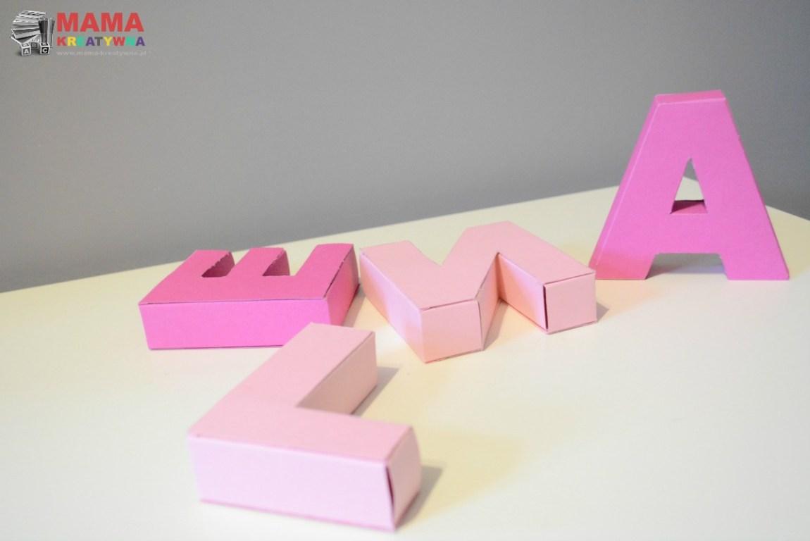 literki 3D DIY