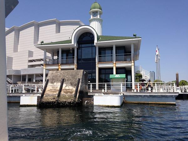 観光船シーバスからの眺めぷかり桟橋