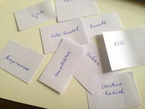 Namen aller Kommentatoren in der Buchverlosung