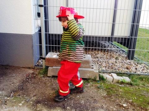 Der kleine Feuerwehrmann ist da