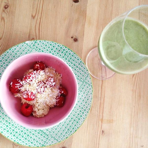 veganes Frühstück - schmeckt gut, macht aber nicht satt