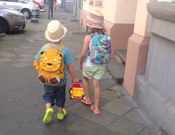 Unterwegs mit dem Affenzahn Rucksack