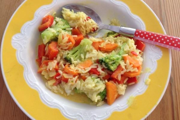 Mittagessen - Reis mit Genüse