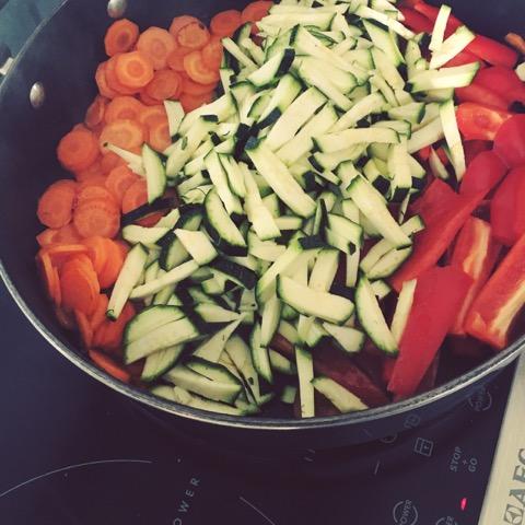 Gemüse Wraps