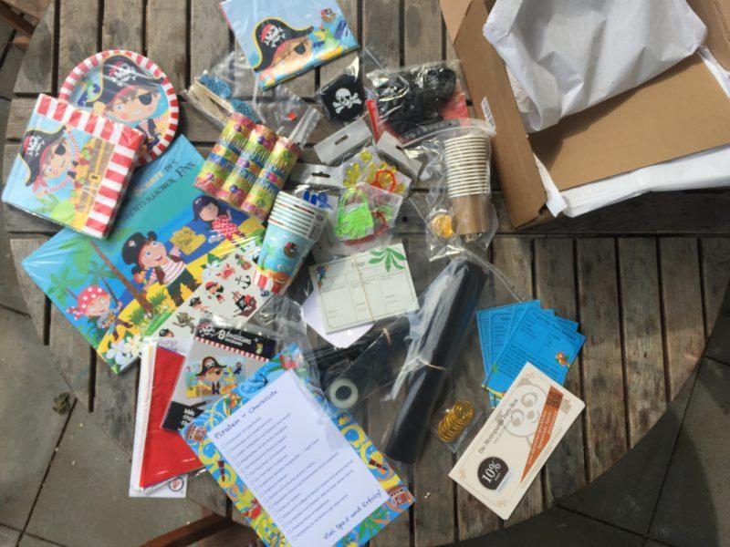 Piratenparty Kindergeburtstag Box