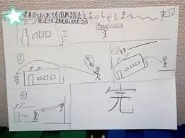 ミッションの結果を書いた絵