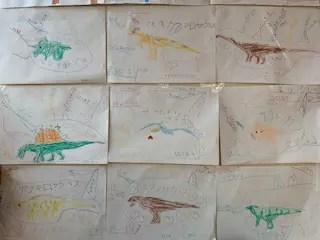 息子が描いた恐竜のマインドマップ(R)