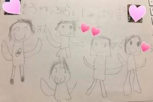 5歳長男が描いた家族の絵