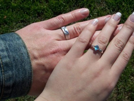 newly married husband and wife rings