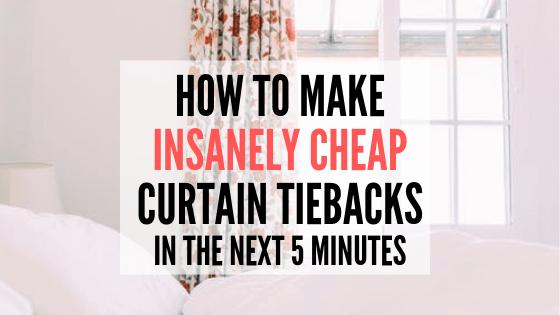 insanely cheap curtain tiebacks