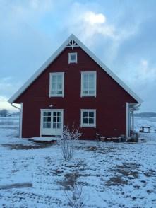 Rotes Haus im Winter 292